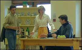 A scene showing conflict in the family when the epidemic starts.